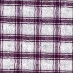Purple and White Large Check Tea Towel by Dunroven House