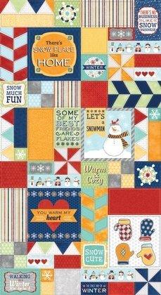 Fabric Cotton Warm My Heart Fabric - 00524 ADORNit
