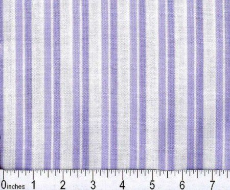 Fabric Cotton Baby Quilt TWO STRIPE LILAC 43'' 100%  Cotton Baby Basic
