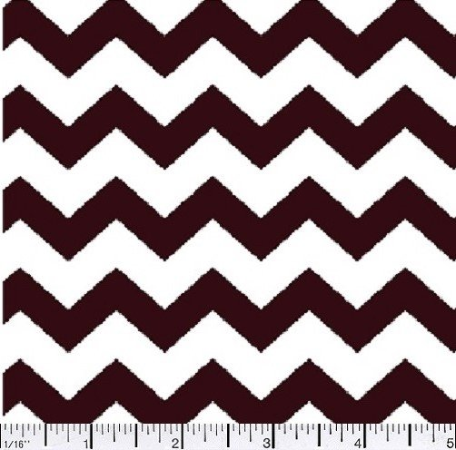 Remnant 17 x WOF CHEVRON One half 1/2 inch Color 01 Brown 44/45'' 100% Cotton