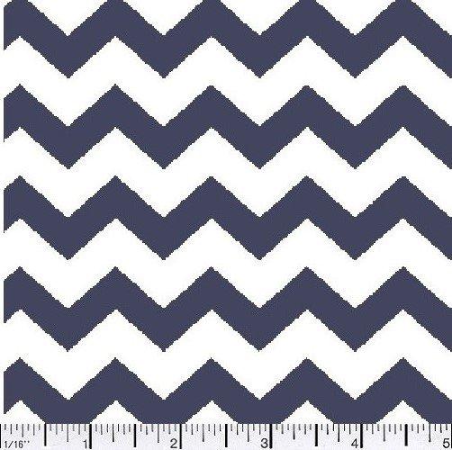 Fabric Cotton Chevron 1/2 inch Navy
