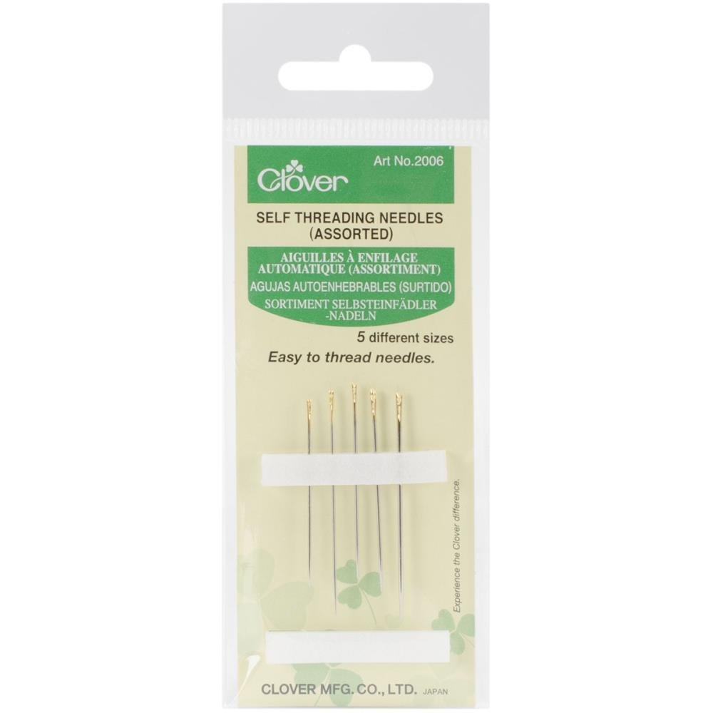 Notions Needles Hand Sewing Self-Threading Needles Assorted Pack of 5