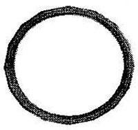 Plastic O Rings 15/8 inch Black