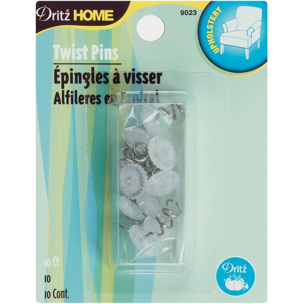 Notions Pins Dritz Upholstery Decorative Twist Pins 12mm 10/Pkg