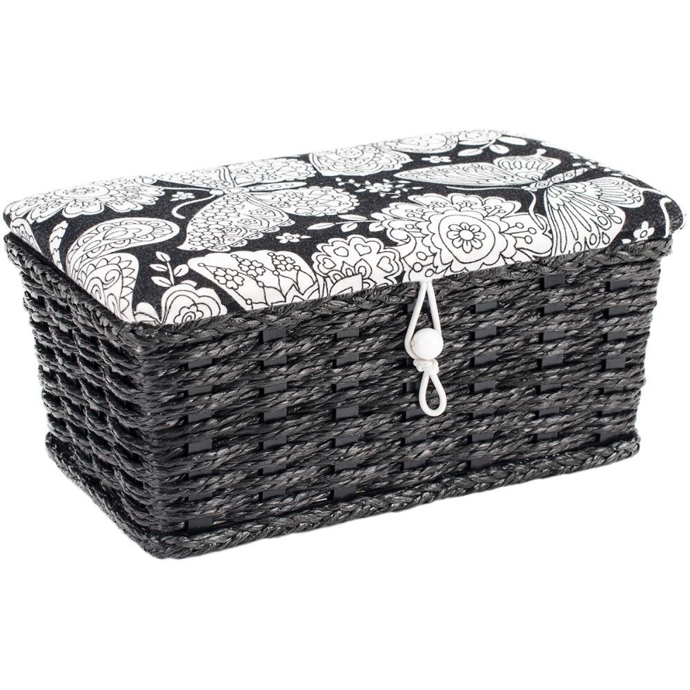 Sewing Basket Rectangle Prym 7.5X4.5X3.25 Butterfly Print