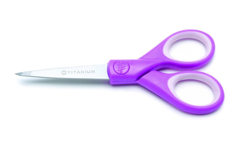 Scissors Westcott 5 Craft Titanium Bonded Scissors with Microtip Violet