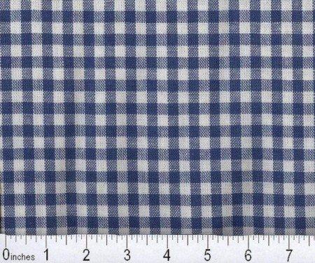Fabric Cotton Gingham 100% cotton 1/8 inch check Dark Blue 60 inch wide