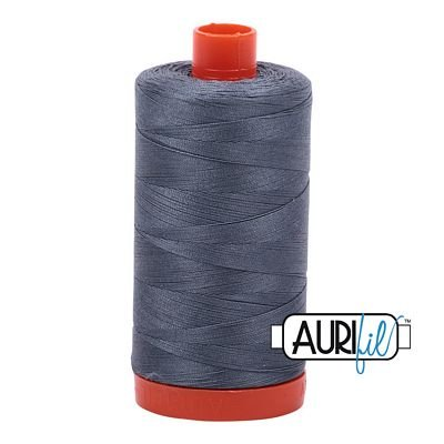 Aurifil Thread Cotton Mako 50wt - 1422 yrds/1300m-Grey #1246