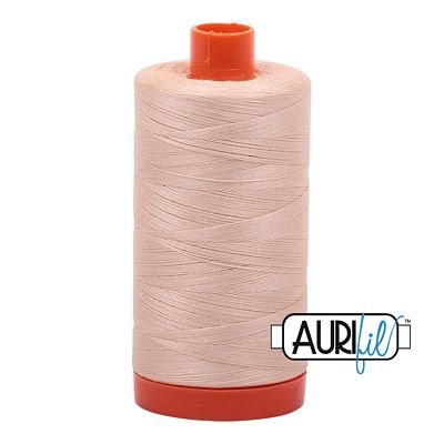 Aurifil Thread Cotton Mako 50wt - 1422 yrds/1300m-Pale Flesh #2315