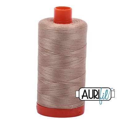 Aurifil Thread Cotton Mako 50wt - 1422 yrds/1300m-Sand #2326
