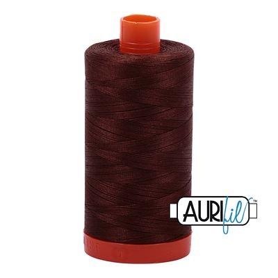 Aurifil Thread Cotton Mako 50wt - 1422 yrds/1300m-Chocolate #2360