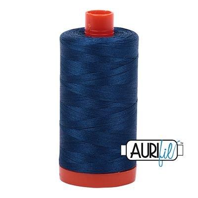 Aurifil Thread Cotton Mako 50wt - 1422 yrds/1300m-Dark Delft Blue #2783
