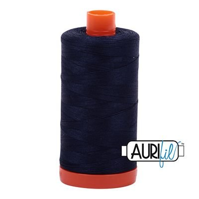 Aurifil Thread Cotton Mako 50wt - 1422 yrds/1300m-Very Dark Navy #2785
