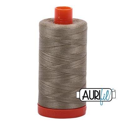 Aurifil Thread Cotton Mako 50wt - 1422 yrds/1300m-Khaki Green #2900
