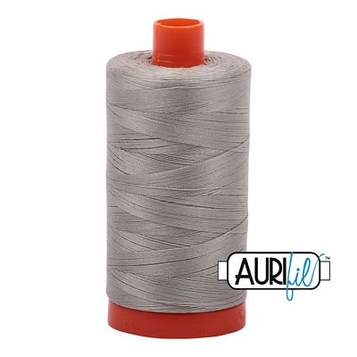 Aurifil Thread Cotton Mako 50wt - 1422 yrds/1300m-Light Grey #5021