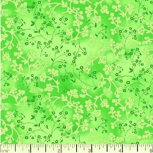 Quilt Backing 108 Razzle Dazzle Lime 100% Cotton
