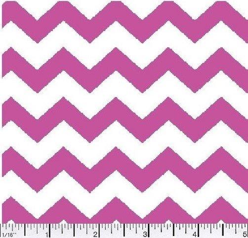 Fabric Cotton Chevron One half 1/2 inch Color 10 FLAMINGO 44/45'' 100% Cotton