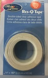 Double-Sided Clear Adhesive Tape 3/4 x 180 Res-Q Tape