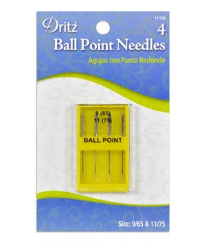 Dritz Ball Point Machine Needles - Size 9 (65) and 11 (75)