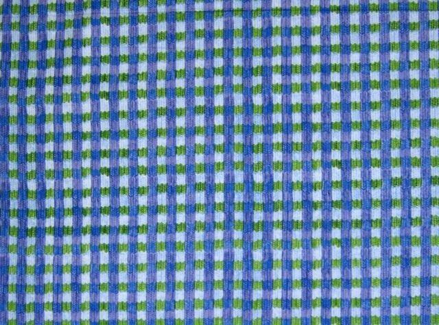 Not a Creature was Stirring Green Blue Plaid by Jacqueline Decker RJR 2012 44/45 100% Cotton
