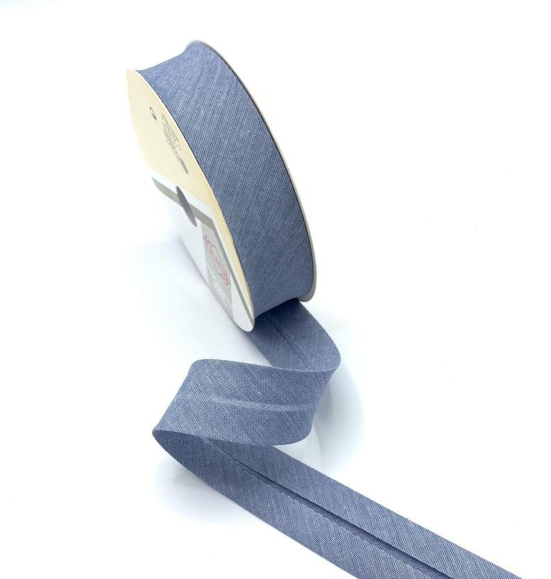 Extra Wide Double Fold Bias Tape 1/2 inch 3 yds 021 Denim Chambray