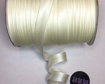 Extra Wide Double Fold Bias Tape 1/2 inch 3 yds Satin 028 Oyster