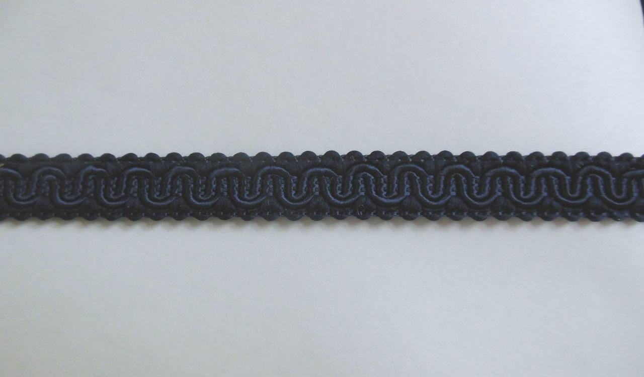 Trim Scroll Gimp 1/2 inch Blue Navy 02523-081 PFA by the yard