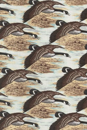 Fabric Cotton Riverwoods Nostalgic Hunt  TRO-1244 Flying Geese  44/45''  100% Cotton