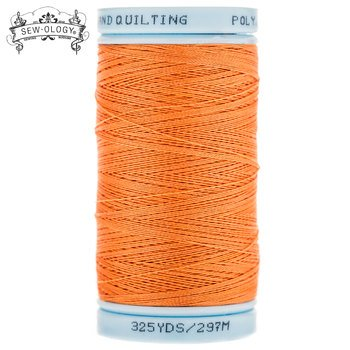 Sew-Ology Poly-Cotton Hand Quilting Thread 375 yds/297m Orange