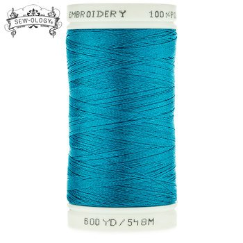 Sew-Ology Poly Embroidery Thread 600 yds/548m Blue #1837