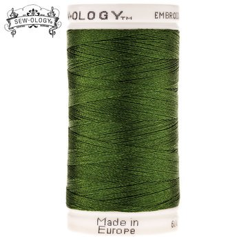 Sew-Ology Poly-Cotton Embroidery Thread 600 yds/548m Green # 1833