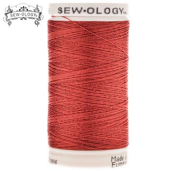 Sew-Ology Poly Embroidery Thread 600 yds/548m Brick Red #1806 - copy