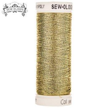 Sew-Ology Nylong/Poly Metallic Thread  165yd/150m Gold #1861