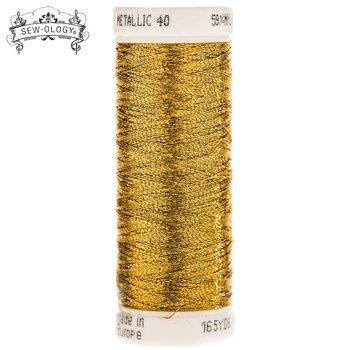 Sew-Ology Metallic Thread 165yds/150m Dark Gold #1862