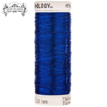 Sew-Ology Metallic Thread 165yds/150m Royal Blue #1876