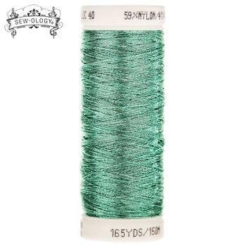Sew-Ology Metallic Thread 165yds/150m Mint Green #1875
