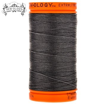 Sew-Ology 100% Bonded Nylon Extra Strong Upholstery Thread 1250 yds/137m Extra Grey #1374