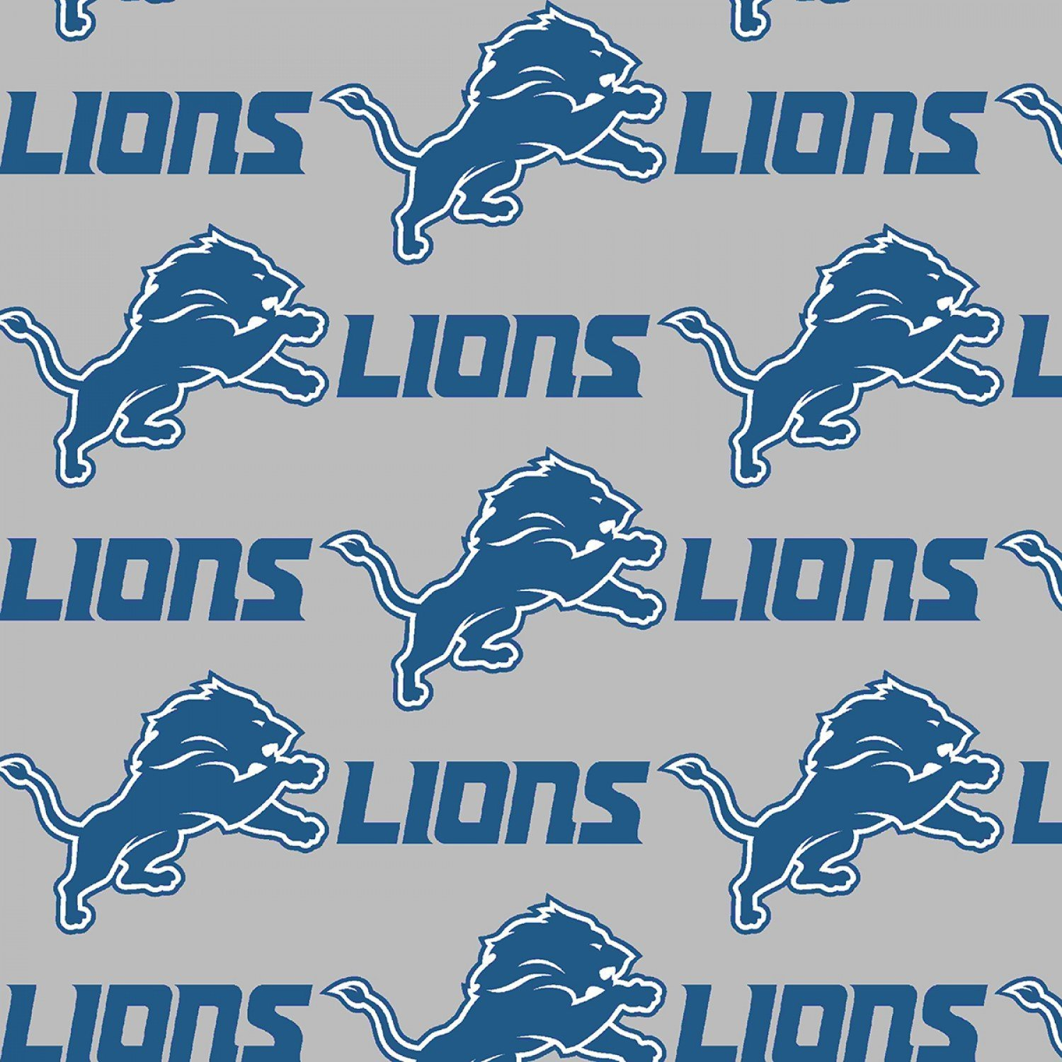 Fabric Polyester Fleece Detroit Lions Licensed 58'' wide