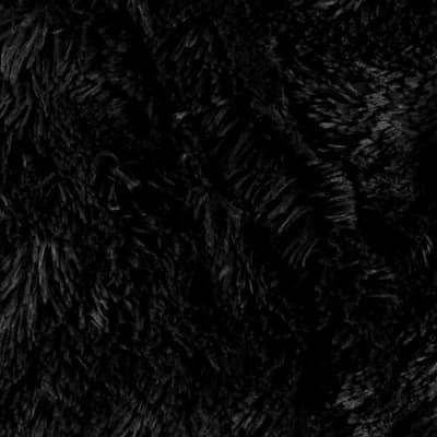 Faux fur Luxe Cuddle® Shaggy Black Shannon Fabrics