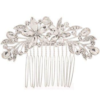 Jewelry Rhinestone Flower Hair Comb Studio His & Hers