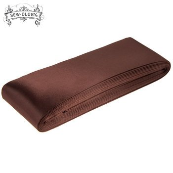 Blanket Binding Satin 2 inch 4 3/4 yards Brown Sew-Ology