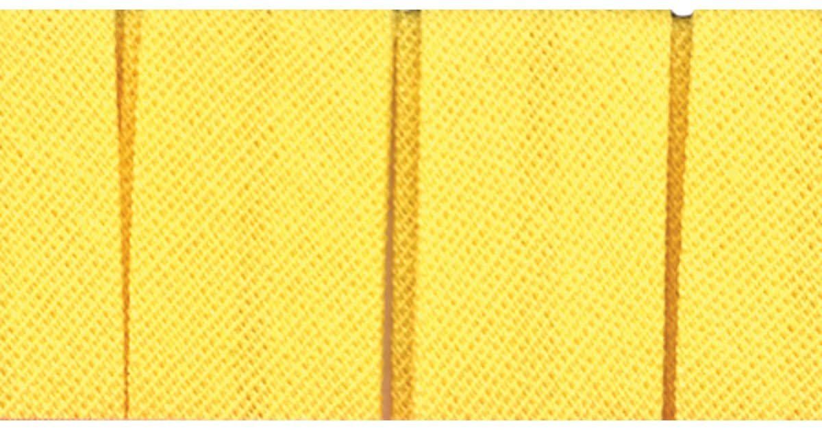 Single Fold Bias Tape 1/2 inch 6 yds Color Yellow