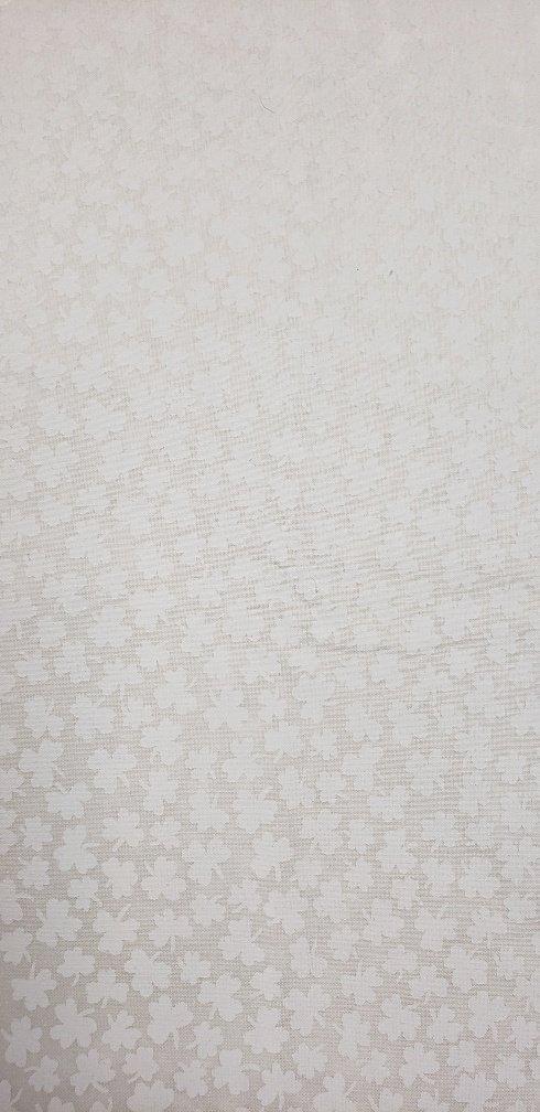 Fabric 100% Cotton White on White Clovers