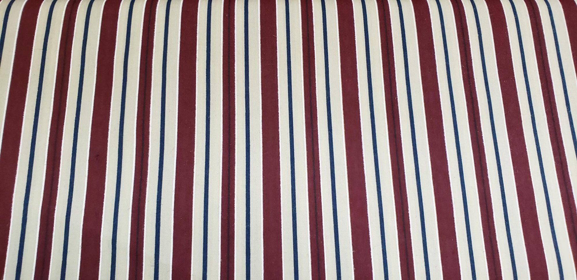 Fabric Burgundy, Beige and Navy Blue Stripes