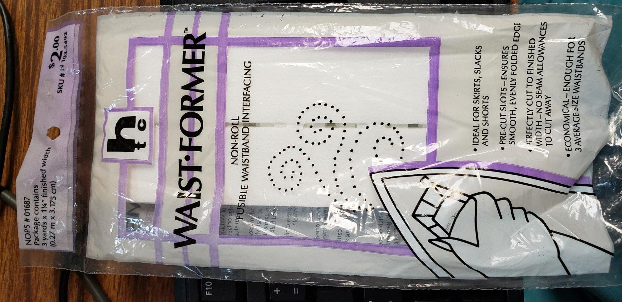 Waist-Former Non Roll Fusible Waistban Interfacint 3 yards x 1 1/4 by HTC