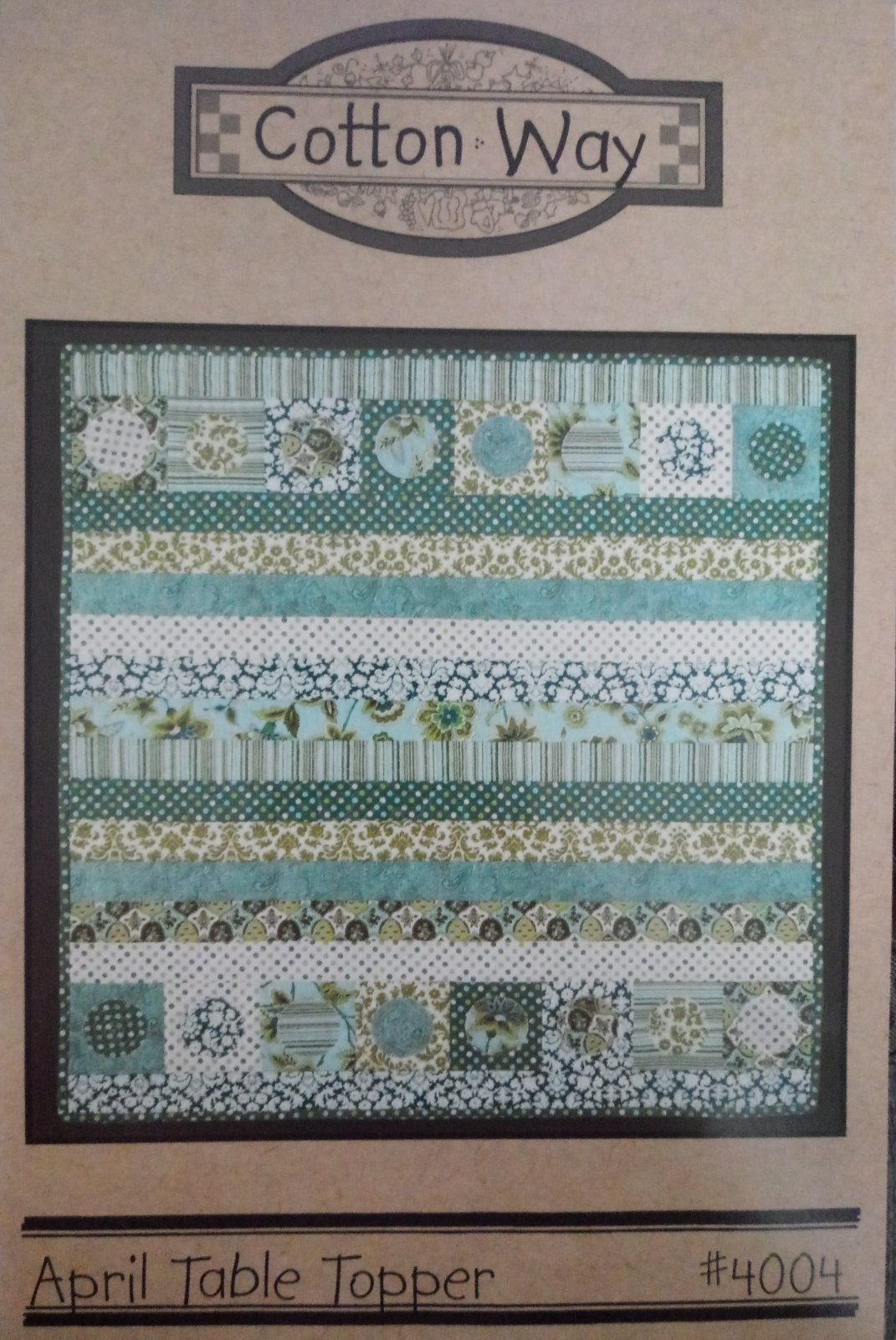 April Table Topper #4004 by Cotton Way