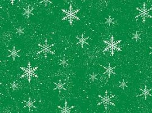 Fat Quarter Santa Paws Green with Snowflakes 22673-G Fabric Cotton Quilting Treasures