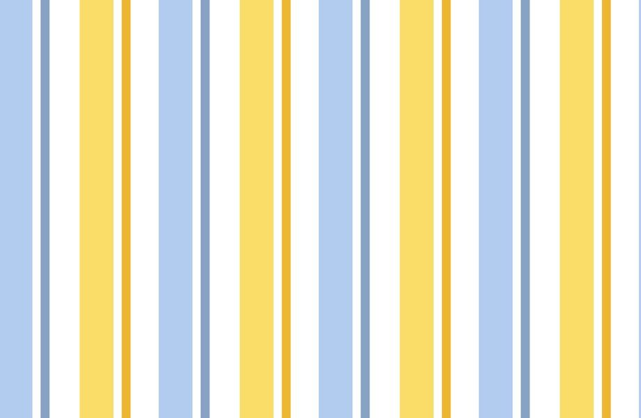 Fabric Quilting Treasures Yellow and Blue Stripe One In A Minion 23993 b