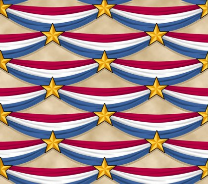 LONG MAY SHE WAVE BUNTING  Style # : 24407 -E  Color : DK TAN 100% Cotton Quilting Treasures