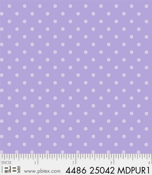 P&B Basically Hugs 100% Cotton - Dot Medium Purple #25042